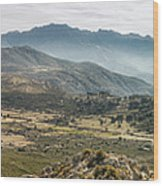 Panoramic View Of Monte Grosso And The Mountains Of Corsica Wood Print