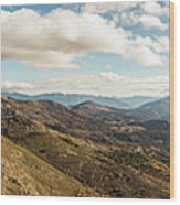 Panoramic View Of Olmi Cappella Valley With In Corsica Wood Print