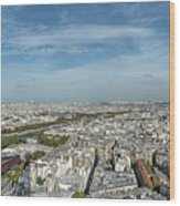 Panoramic View Of Paris From The Top Of The Tower Wood Print