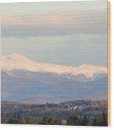 Panoramic View Of Presidential Range Wood Print