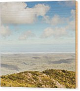Panoramic Views From Mount Zeehan To Trial Harbour Wood Print