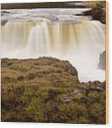 Panoramic Waterfall Manitoba Wood Print