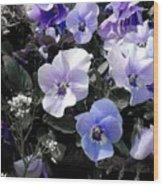 Violas Ocean Dream Wood Print