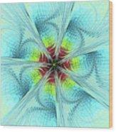 Pansy Fractal Wood Print
