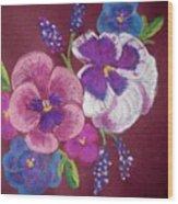 Pansy Grandeur Wood Print