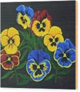 Pansy Lions Wood Print