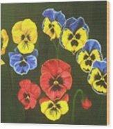 Pansy Lions Too Wood Print