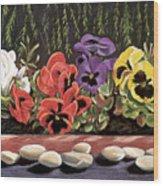 Pansy Palette Wood Print