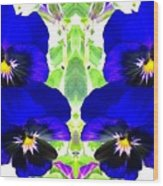 Pansy Pattern Wood Print
