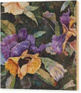 Pansy Tangle Wood Print