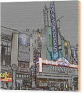 Pantages Theater Hollywood Wood Print