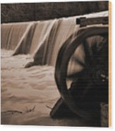 Panther Valley Water Wheel Wood Print by Fred Lassmann