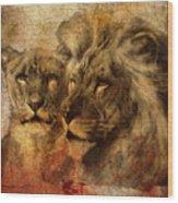 Panthera Leo 2016 Wood Print