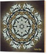 Panthera Tigris Kaleidoscope Wood Print