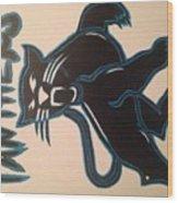 Panthers Nfl Logo Wood Print