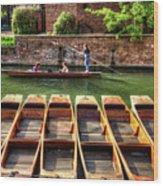 Panting In Cambridge Wood Print