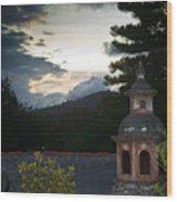 Panza Verde Hotel Roof Top 4 Wood Print