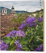Panza Verde Hotel Rooftop 1 Wood Print
