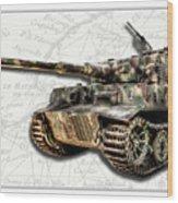 Panzer Tiger I Side Wood Print