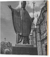 Papa Juan Pablo II - Mexico City Byn Wood Print