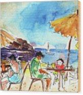 Papagayo Beach Bar In Lanzarote Wood Print