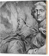 Papal Statues Inside St Peter's Basilica Wood Print