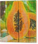 Papaya Dreaming Wood Print
