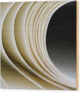 Paper Curl Wood Print
