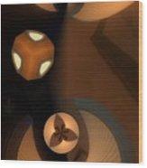 Paper Lamps Wood Print