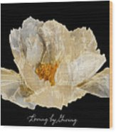 Paper Peony Loving By Giving Wood Print