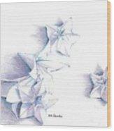 Paper Petals Wood Print