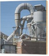 Paper Recycling Plant 1 Wood Print