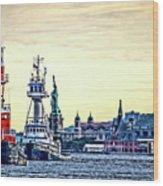 Parade Of Tugs, Hudson River, New York City Wood Print