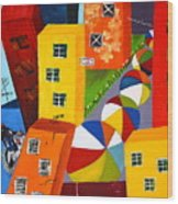 Parade The Day After Wood Print