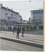 Paradeplatz - Bahnhofstrasse, Zurich Wood Print