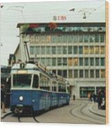 Paradeplatz Zurich Wood Print