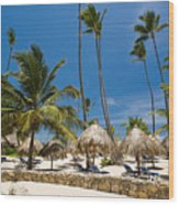 Paradise Beach Wood Print