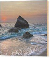 Paradise Beach Sunset Wood Print