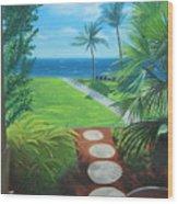 Paradise Beckons Wood Print