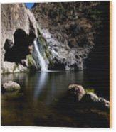 Paradise Falls In Thousand Oaks, California Wood Print