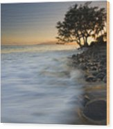 Paradise Gold Wood Print