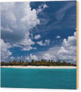 Paradise Is Sandy Cay Wood Print