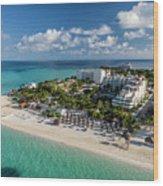 Paradise - Isla Mujeres - Playa Norte, Aerial Image Wood Print