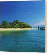 Paradise Island Haiti Wood Print