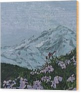 Paradise Mount Rainier Wood Print