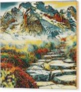 Paradise Mountain Wood Print