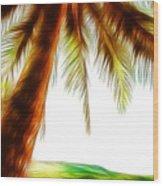 Paradise Palm Wood Print