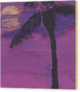 Paradise Palm Wood Print by Maggie  Morrison