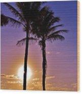 Paradise Palms Wood Print