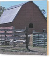 Paradise Valley Farm Montana Wood Print